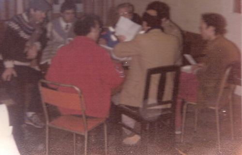 Members of the original Malta Marathon Organising Committee preparing for the inaugural Malta Marathon held in 1986. John Walsh is seatedon the far left. Joe Micallef - official photographer:)